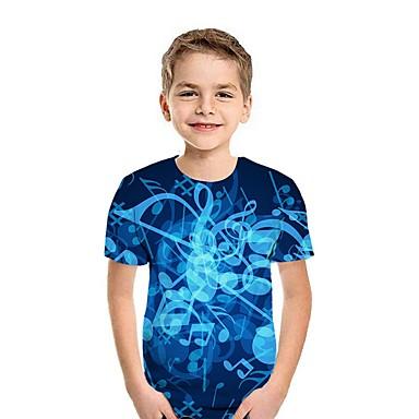 cheap Baby & Kids-Kids Boys' Street chic 3D Short Sleeve Tee Blue