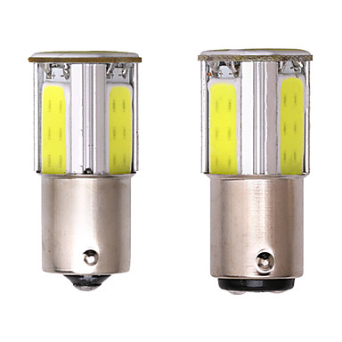 voordelige Autolampen-s25 p21w bay15d ba15s 1156 1157 led cob 12v auto remlicht wit geel auto led richtingaanwijzer lamp parking 2pc