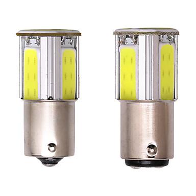 cheap Car Lights-S25 P21w Bay15d Ba15s 1156 1157 led COB 12v auto Brake light White Yellow car led rear Turn signal lamp parking 2pc
