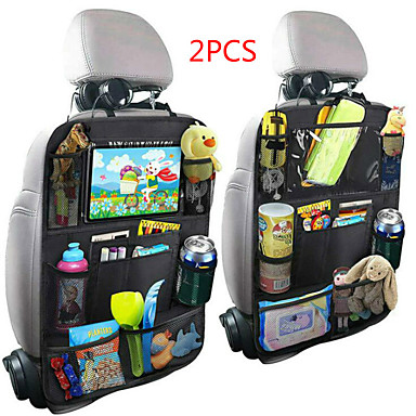 cheap Car Organizers-New Arrival Convenient Car Seat Back Organizer Multi-Pocket Storage Bag Box Case Car storage bag Tablet Holder Storage Organizer-2PCS