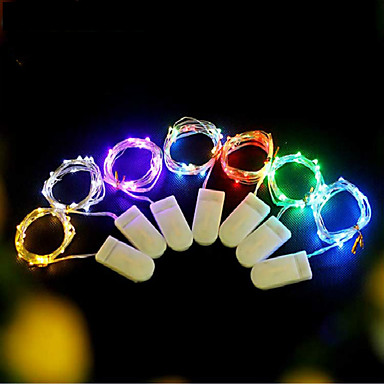 cheap Smart Lights-5pcs Fairy Lights 2M 20LED Wedding Party Decoration LED Christmas Valentine's Day birthday Party Decoration Copper Wire String Light CR2032 Battery Powered  With Battery Delivery
