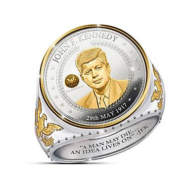 povoljno Muško prstenje-Muškarci Prsten 1pc Zlato Titanium Steel Krug Stilski godišnjica Festival Jewelry Klasičan Csillag