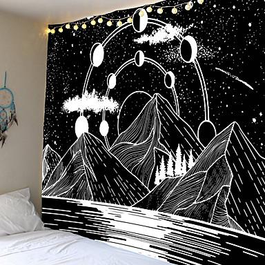 povoljno Dom i vrt-dom živi tapiserija zid viseće tapiserije zidni pokrivač zid umjetnosti zidni dekor šuma crna bijela planina tapiserija zidni dekor
