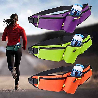 cheap Running Bags-Running Belt Fanny Pack Belt Pouch / Belt Bag for Running Hiking Outdoor Exercise Traveling Sports Bag Adjustable Waterproof Portable Nylon Men's Women's Running Bag Adults