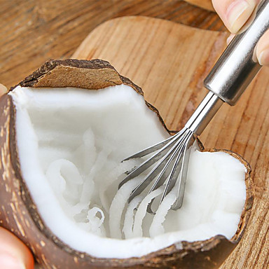 cheap Kitchen Utensils & Gadgets-Coconut Shaver Stainless Steel Kitchen Fruit Tools Fish Skin Scale Scraper Peeler Cleaning Tool Accessories