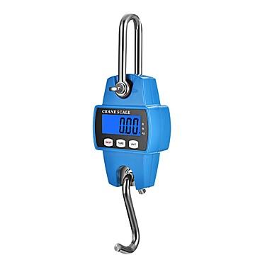 cheap Test, Measure & Inspection Equipment-Mini Digital Crane Scale 300kg/600lbs with LED (Plastic ShellOrange)