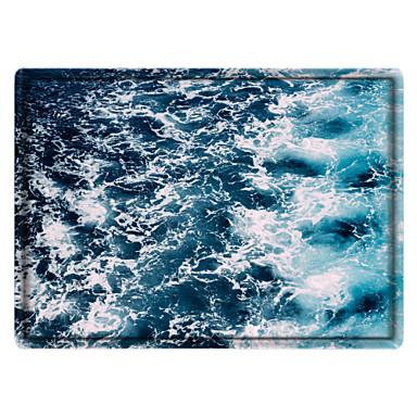 cheap Rugs-Digital Print Ocean Printed Memory Foam Bath Mat Non Slip Absorbent Bathroom Mat Super Soft Microfiber Bath Mat Set Super Cozy Velvety Bathroom Rug Carpet