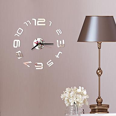 cheap Wall Clocks-DIY digital Wall Clock 3D Mirror Surface Sticker Silent Clock Home Office Decor wall Clock for Bedroom Office No Batteries