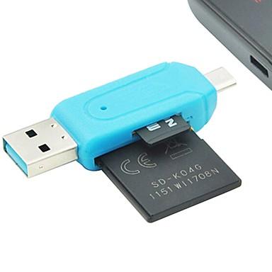 Недорогие Оригинальные гаджеты-кард-ридер портативный подключи и играй телефон&усилитель; кард-ридер otg двойного компьютера