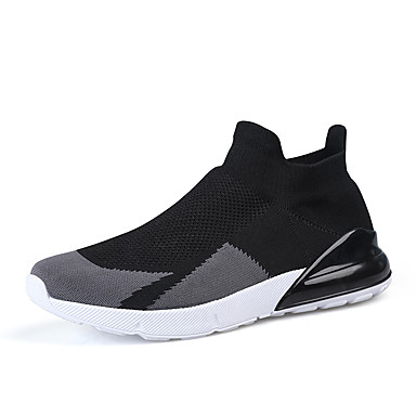 Men's Running Shoes Sneakers Lightweight Breathable Sweat-wicking Jogging Autumn / Fall Winter White Black