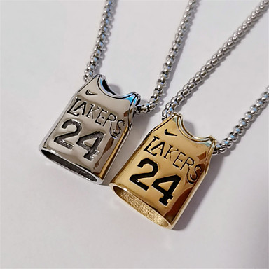 cheap Women's Jewelry-Men's Women's Charm Necklace Name Faith Punk Titanium Steel Gold Silver 55 cm Necklace Jewelry 1pc For Street