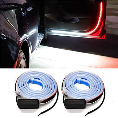 povoljno Svjetla za automobil-2pcs svjetiljka za upozorenje za vrata automobila svjetlo vrata svjetla univerzalna vrata otvorena svjetla strobo sigurnosne ambijentalne svjetiljke 120 cm podesive trake 12v