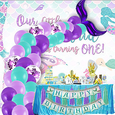 cheap Balloons-Party Balloons 40+2 pcs Mermaid Party Supplies Mermaid Tail Balloon Garland Mermaid Arch Kit All 12inch for Party Favors Supplies or Home Decoration / Kids