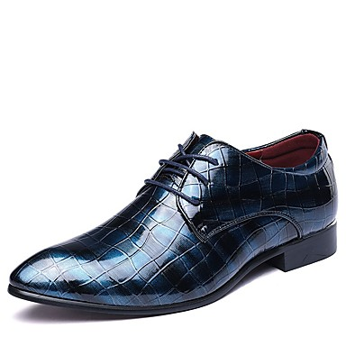 cheap New Arrivals-Men's Summer / Fall Daily Oxfords PU Black / Red / Blue