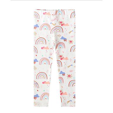 お買い得  Kids Collection$8.99以下-子供 女の子 プリント レギンス ホワイト