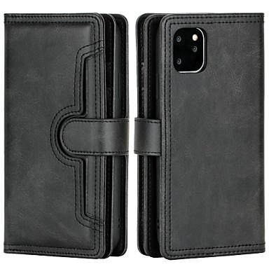 رخيصةأون أغطية أيفون-غطاء من أجل Apple iphone6 7 8 6plus 7plus 8plus xr xs xsmax x se 11 11pro 11promax حامل بطاقة محفظة قلب كامل الجسم الحالات الصلبة الملونة بو الجلود