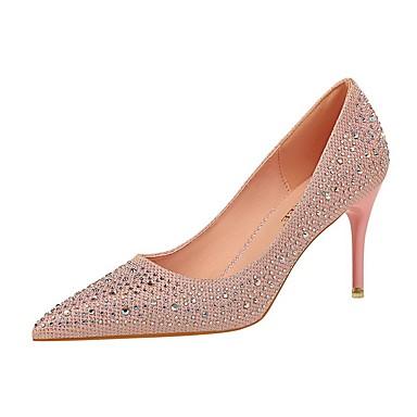 povoljno Modne sandale-Žene Cipele na petu Ljeto Stiletto potpetica Krakova Toe Dnevno Jednobojni PU Obala / Crn / Pink