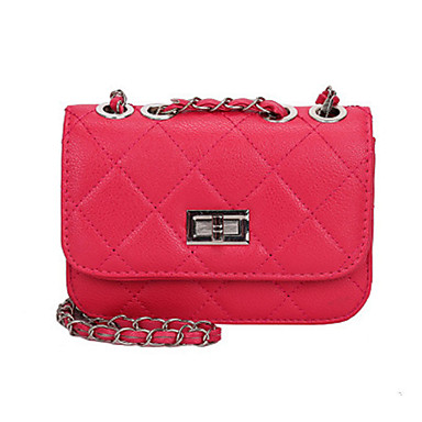 cheap Bags-Women's Bags PU Leather Crossbody Bag Chain for Daily Watermelon Pink / Black / Yellow