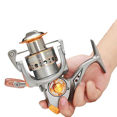 billige Fisking-Fiskesneller Spinne-hjul 5.2:1 Gear Forhold+13 Kulelager Hånd Orientering Byttbar Søfisking / Ferskvannsfiskere / Trolling- & Båtfiskeri