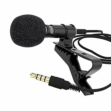 halpa Kuluttajaelektroniikka-mikrofoni kiinnitettävä kaulus solmio matkapuhelimen lavalier mikrofonimikrofoni ios android-matkapuhelimen kannettavan tabletin nauhoittamiseen
