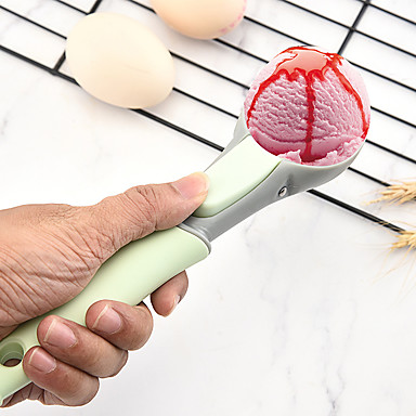 cheap Kitchen Utensils & Gadgets-Food -Grade Watermelon Tools Plastic Ice Cream Spoon Fruit Spoons Melon Baller Spherical Shape Kitchen Accessories