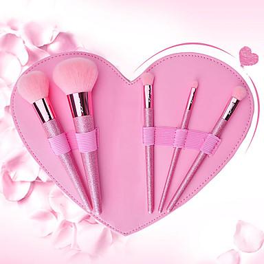 halpa Osta tuotemerkeittäin-ammattilainen Makeup Harjat 5 kpl Ammattilais Pehmeä Täysi kattavuus Ihana Keinoharjainen sivellin Puinen / bambu varten Alusvoidesivellin Luomivärisivellin
