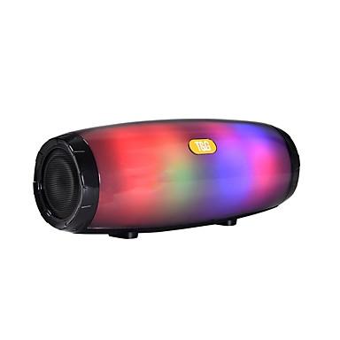 halpa Kuluttajaelektroniikka-tg165 kannettava bluetooth-kaiutin stereo nahkapylväs 5 salama tyyli led subwoofer langaton ulkona musiikkikotelo fm radio tf-kortti