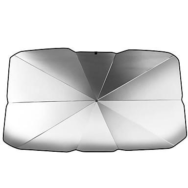 billige Solskjermer og visirer til bilen-universalbil frontgir solskjerm som bretter frontrute parasoll solkrem varmeisolering bilparasollparaply for å blokkere uv varme universell skygge reflekterende skjermdeksel