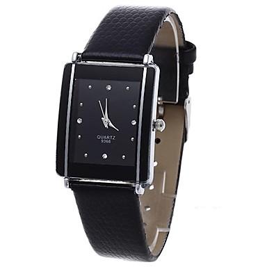 cheap Women's Watches-Women's Quartz Watches Quartz Stylish Fashion Adorable PU Leather Black Analog - Black One Year Battery Life