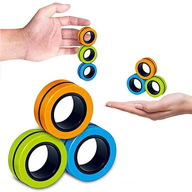 voordelige Speelgoed & Spellen-3/6/9 pcs Magnetisch speelgoed Decompressie speelgoed Magische rekwisieten Magnetische armbandringen Pak het speelgoed uit Anti-stress Vinger magnetische ring Creatief Volwassenen / Tiener Speeltjes