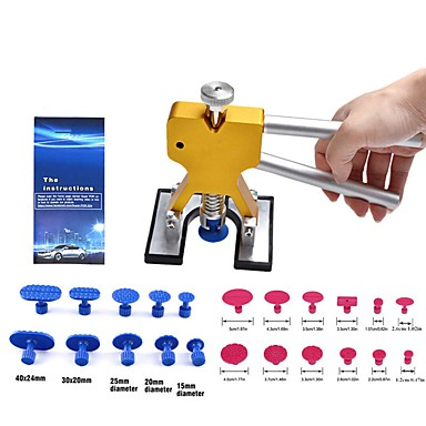 cheap Vehicle Repair Tools-Super PDR Tools Kit For Car Paintless Dent Repair Tool Hail Dent Removal Kit auto dent pullers suction cup dent pulling bridge