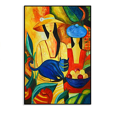 cheap Oil Paintings-Picasso Famous Top Selling Modern Pure Hand painted Canvas Painting Wall Pictures for Home Decoration Oil Painting Figure work Rolled Without Frame