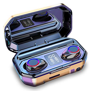 저렴한 추천-litbest m12 tws true 무선 헤드폰 led 손전등 3500 미리 암 페르 하우어 모바일 전원 블루투스 5.0 이어폰 led 전원 디스플레이 ipx7 방수 터치 제어 이어폰 안드로이드 ios pc 스포츠 사이클링