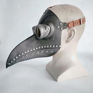 cheap Halloween Props-Latex Mask Inspired by Plague Doctor Dark Gray Brown Steampunk Halloween Halloween Teen Adults' Men's Women's