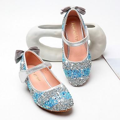 رخيصةأون أحذية الأطفال-للفتيات مريح PU كعوب الأطفال الصغار (4-7 سنوات) زهري / أزرق الصيف