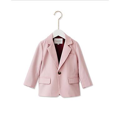 お買い得  女児ジャケット&コート-幼児 女の子 ベーシック ソリッド レギュラー スーツ&ブレザー ピンク