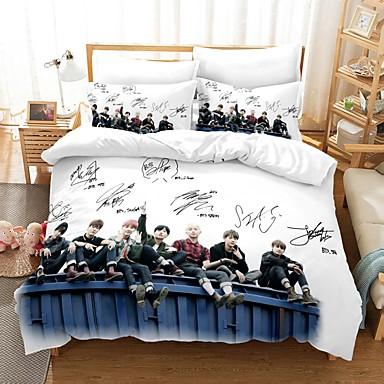 cheap Duvet Covers-Home Textiles 3D Bedding Set  Duvet Cover with Pillowcase 2/3pcs Bedroom Duvet Cover Sets  Bedding BTS