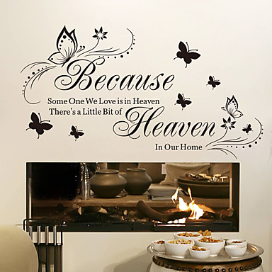 cheap Wall Stickers-Removable Sticker Because Butterfly Generation Carved Home Background Decoration