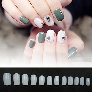 cheap Nail Tools & Equipments-Fake Nails Oval Nails False Round Nails Full Cover Artificial Press On Nails Natural 600pcs 12 Sizes