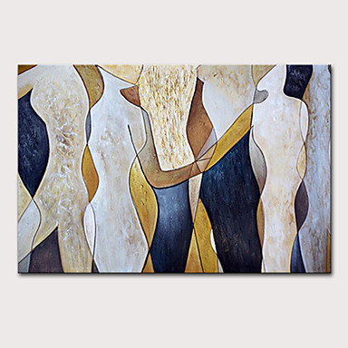 cheap Oil Paintings-Mintura Large Size Hand Painted Modern Abstract Figure Oil Painting on Canvas Pop Art Wall Pictures For Home Decoration No Framed Rolled Without Frame