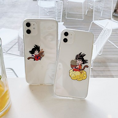 cheap iPhone Cases-Case For Apple iPhone7 8 7plus 8plus XR XS XSMAX  X SE 11 11Pro 11ProMax Cartoon TPU Translucent Back Cover Playing with Apple Logo