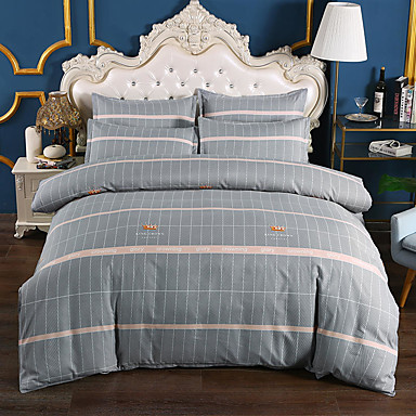 cheap Duvet Covers-4-Pieces Bedding Set Duvet Cover Set Ultra Soft and Easy Care, Bedding Queen Size Set