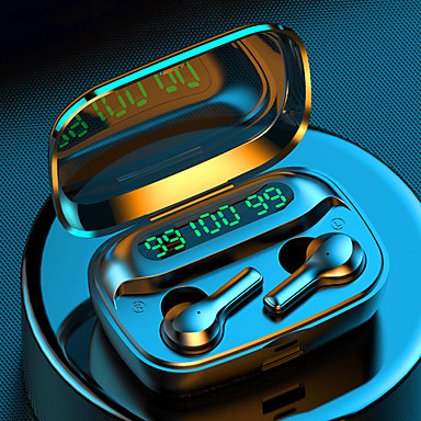 hesapli Kulaklıklar ve Kulaklıklar-Litbest r3 tws kablosuz bluetooth5.0 kulakiçi akıllı dokunmatik kontrol binaural 5.0 stereo kulak su geçirmez spor kulaklık led güç ekran ile 2000 mah şarj kutusu supprot cep telefonu şarj için