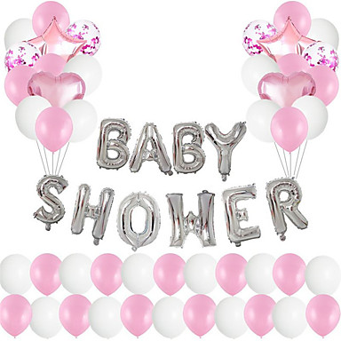 cheap Balloons-Party Balloons 48+1 pcs Party Supplies Latex Balloons All Baby Shower Decoration 12-18inch for Party Favors Supplies or Home Decoration / Kids