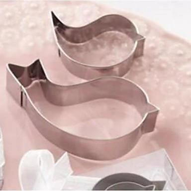 hesapli Düğün Hediyelikleri-Düğün dönüş hatıra küçük hediye pişirme kalp şeklinde aşk kuş paslanmaz çelik kek bisküvi kalıp