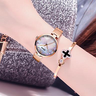 billige Halskjede klokke-DOM Dame Halskjede klokke Fritid Mote Rustfritt stål Quartz Gull Sølv Vannavvisende Analog