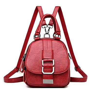 cheap Bags-Waterproof / Lightweight Commuter Backpack Women's Leather Daily / Outdoor Black / Fall & Winter