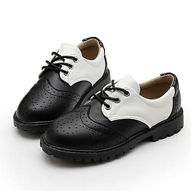 رخيصةأون أحذية الأطفال-للصبيان مريح PU أوكسفورد الأطفال الصغار (4-7 سنوات) أسود الصيف