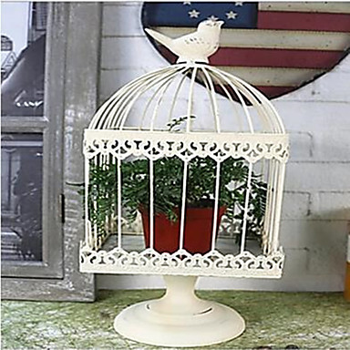 cheap Wedding Decorations-Iron bird cage European style home garden Candlestick decoration