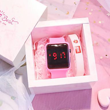 저렴한 정사각형 및 직사각형 시계-어린이 디지털 시계 디지털 새로운 도착 크로노그래프 화이트 / 블루 / 그린 디지털 - 화이트 푸른 루비